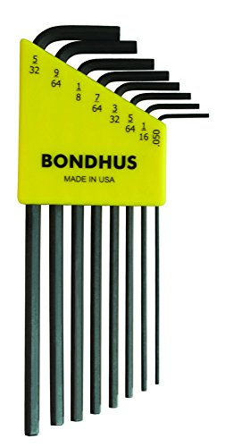 "12132 8PC HEX LONG .050-5/32 Hex L-wrenches (.050-5/32"") -"