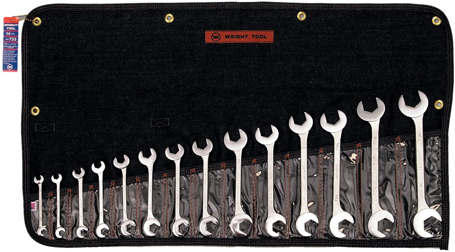 SET 733 14PC OPEN END WRENCH 14 Pc. Open End, Double angle
